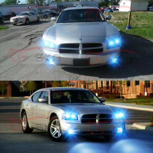 For Dodge Charger 2006 2007 2009 6x 8000k Led Headlights Hi lo Fog Lights