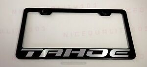Tahoe Stainless Steel Chrome Finished License Plate Frame Holder