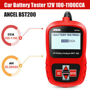 12v Load Battery Tester Digital Car Battery Analyzer 100 1100 Cca Ancel Bst200