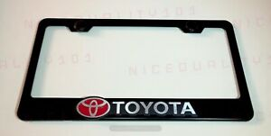 3d Toyota Camry Stainless Steel Black Finished License Plate Frame