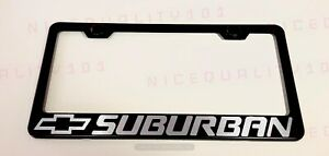 Suburban Stainless Steel Chrome Finished License Plate Frame Holder