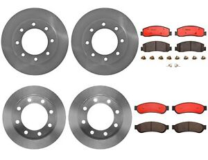 Brembo Front Rear Brake Kit Disc Rotors Ceramic Pada For Ford F 250 F 350 Sd 4wd