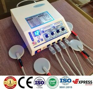 Prof Home Use 4 Channel Electrotherapy Physical Pain Relief Ultrasound Machine