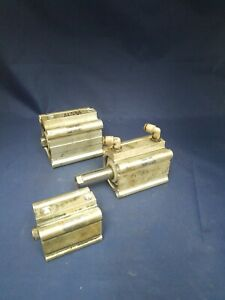 Lot Of 3 Assorted Smc Compact Cylinders