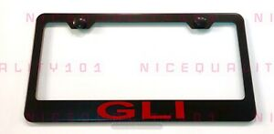 Gli Stainless Steel Black Finished License Plate Frame Holder