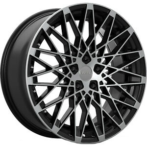 Set Of Rosso Skism Staggered 20 8 5 And 20 10 5x120 Black Machined