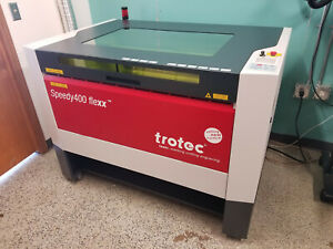 Trotec Speedy 400 Flexx 120 Co2 30 Watt Fiber Used In Excellent Condition