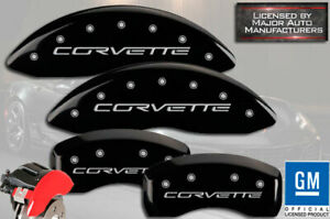 2005 2013 Chevy Corvette C6 Z51 Front Rear Black Mgp Brake Disc Caliper Covers