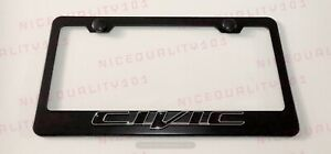 3d Civic Stainless Steel Chrome Finished License Plate Frame