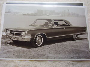 1965 Chrysler 300l Coupe 11 X 17 Photo Picture