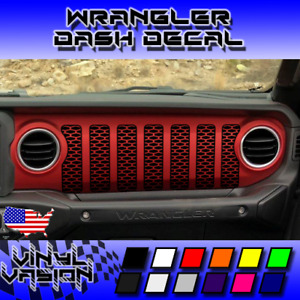 Dashboard Grill Honeycomb Decal Vinyl Dash Sticker For Jeep Wrangler Jl 2018 20