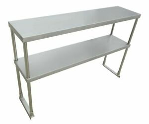Commercial Kitchen Stainless Steel Double Overshelf For Work Tables many Sizes