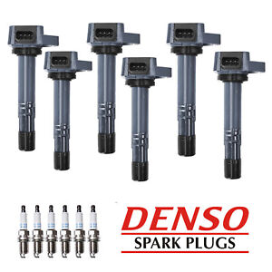 Set Of 6 Ignition Coil Denso Spark Plug For Saturn Vue Acura Mdx Uf400