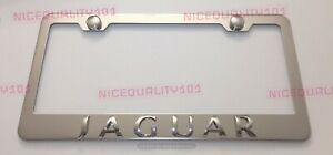 3d Jaguar Stainless Steel Chrome Finished License Plate Frame Rust Free