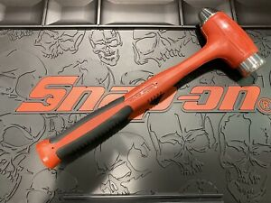 Snap on Tools Hbbd40 40oz Dead Blow Ball Peen Hammer Cushion Grip Red New