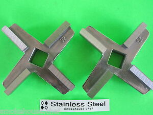 two Commercial Knives Blades For Meat Grinder Hobart 4346 4046 4146 Biro
