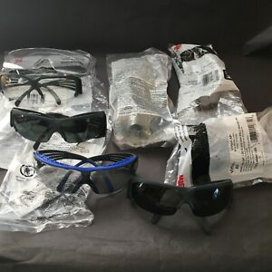 3m Protective Eyewear Safety Glasses Lot Of 8 Pairs Various Styles