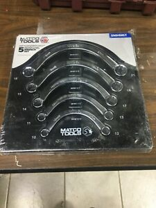 Matco Tools 5 Piece Metric Half Moon Wrench Set Smhm5t 10 21mm Sealed