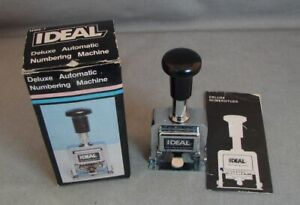 Ideal Deluxe Automatic Numbering Machine Nm6 7