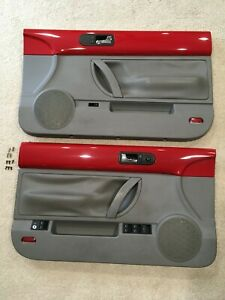 1998 2010 Volkswagen Beetle Convertible Door Panel Set Red Grey Gray Oem