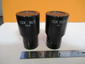 Ao American Optics Pair Eyepiece Cat 191a Microscope Part As Pictured