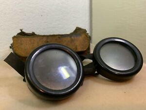 Vintage Welshade Absorbative Glass Welshweld Glass Goggles steampunk