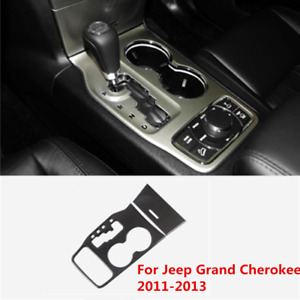 True Carbon Fiber Water Cup Holder Cover Trim Fit Jeep Grand Cherokee 2011 2013