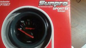 Sunpro Sport St Gauge Volt Meter Cp7007 Illuminated Pointer