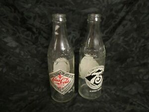 2 Coca-Cola 75Th Anniversary Commemorative Bottle 10 Fluid Ounce Atlanta  GA