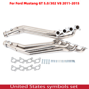 Stainless Long Tube Header Exhaust Manifold For 11 16 Ford Mustang 5 0 302 V8 Us