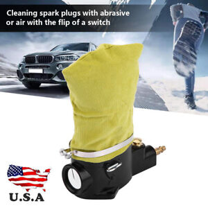 Car Hardware Pneumatic Air Spark Plug Cleaner Cleaning Tool With Abrasive