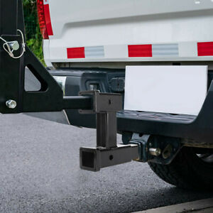 2 Hitch Extension Receiver Adapter Extender 4000 Lbs Capacity Tow And Riser Mi
