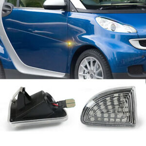 Clear Led Side Marker Turn Signal Light Lamp For Mercedes Benz Smart Fortwo W451