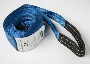 3 Blue 9t 20000lb Tow Strap 3x10 Ft Winch Tree Saver Protector Snatch Suv Truck
