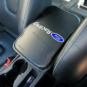 For Ford Racing Carbon Fiber Car Center Armrest Cushion Mat Pad Cover free Gift