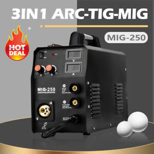 Hitbox 3in1 Mig250 Mig Welder 220v Gas Gas less Arc Lift Tig Mig Welding Machine