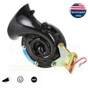 300db Loud Air Snail Single Horn 12v Car Truck Lorry Suv Rv Universal Black Boat
