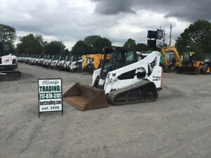 2014 Bobcat T750 Compact Track Skid Steer Loader W Cab Sjc Controls Super Clean