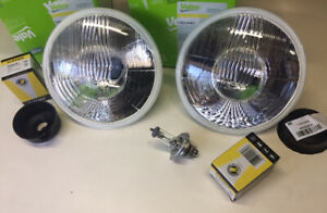 Cibie Valeo 82440 Replacement 7 Headlamps With Bulbs pair