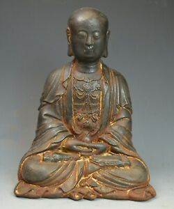 A Japanese Cast Iron Seated Buddha Meiji Period