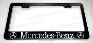 Mercedes Benz Stainless Steel Black Finished License Plate Frame Holder