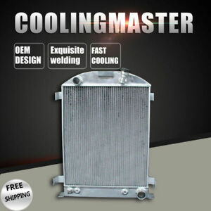 3 Rows Aluminum Radiator For Ford Grill Shells Hi boy Chevy Engine 1932 At mt