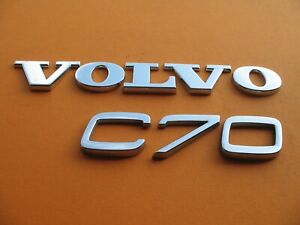 98 99 00 01 02 03 04 05 Volvo C70 Rear Lid Chrome Emblem Logo Badge Sign A6521