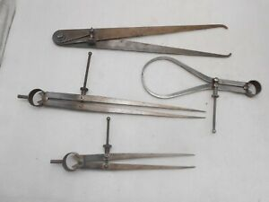 Calipers Dividers 4 Pcs by Lufkin Millers Falls