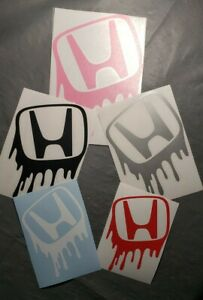 Drip Honda Graffiti Logo Vinyl Decal Sticker For Civic Accord Crv Vtec Si S2000