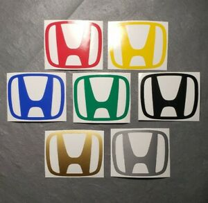 Car Logo Window Decal Bumper Sticker For Honda Civic Accord Crv Vtec Si S2000