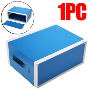 1x 250 190 110mm Blue Metal Electronic Enclosures Project Switch Junction Box