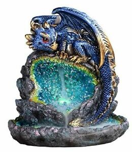 Fantasy Gifts 2929 Blue Baby Dragon Incense Backflow Burner 6 X 5 Inches Led M