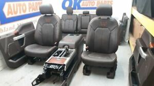 2017 F150 King Ranch Oem Seat Set Complete Interior Mesa Java Brown Massage Opt
