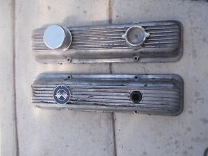 Vintage Chevy Corvette Camaro Valve Covers Pair Oem